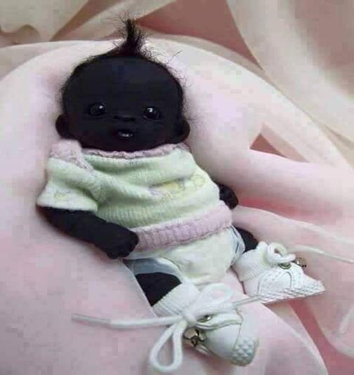 عکس/ سیاه ترین نوزاد قرن 21