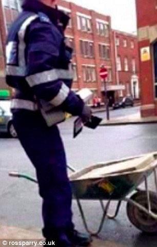 جریمه یک فرغون توسط پلیس!/تصاویر