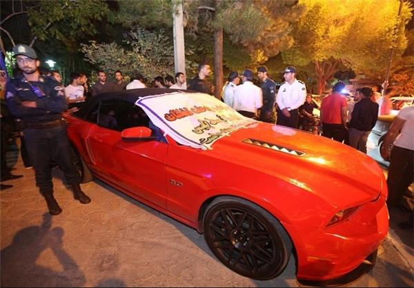 توقیف خودروی گرانقیمت در اصفهان +تصاویر