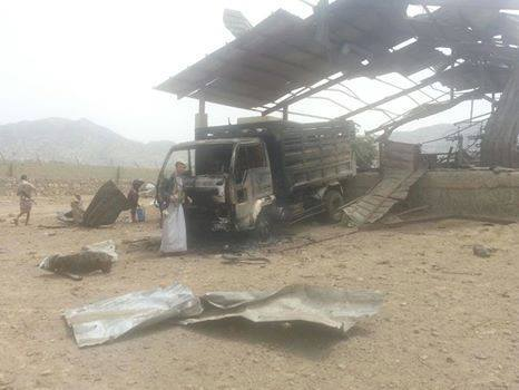 تصاویری از حمله جنگندههای سعودی به زیرساختهای یمن