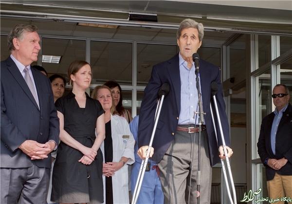 تصاویر/ ترخیص جان کری از بیمارستان