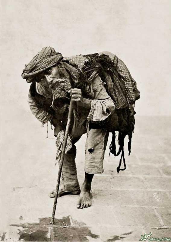 عکس/ یک گدای تهرانی در دوره قاجار