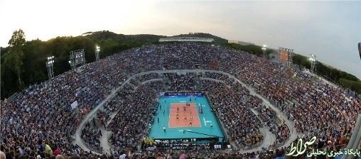 نمایی زیبا از ورزشگاه بازی ایتالیا و برزیل