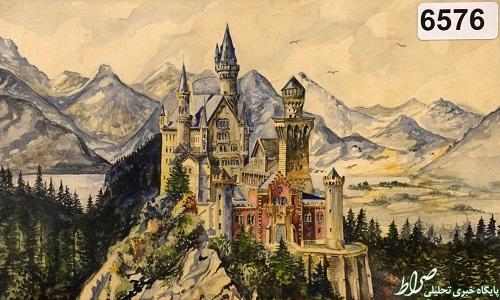 تصویر یک نقاشی ۱۰۰ هزار یورویی اثر هیتلر