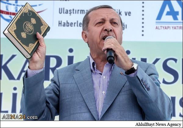 استفاده ابزاری اردوغان از قرآن +عکس