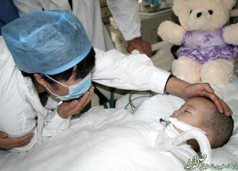 احترام پزشکان چینی به یک بیمار+عکس
