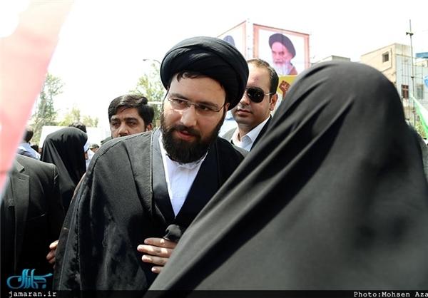 تصاویر/ نوه امام(ره) در راهپیمایی روز قدس