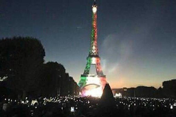 آیا برج ایفل برای ایران جشن گرفت؟