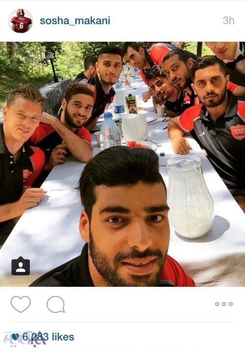 عکس/ میز ناهار پرسپولیسیها در ترکیه