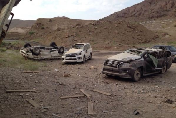 واژگونی 6 لکسوس در کرمان +تصاویر