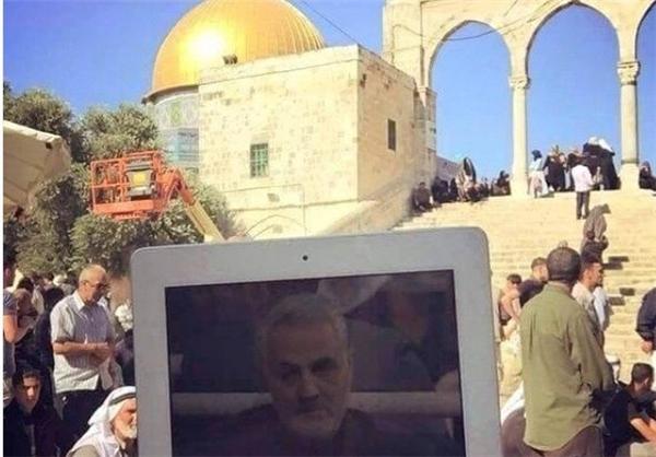تصویر «حاج قاسم» در فلسطین اشغالی
