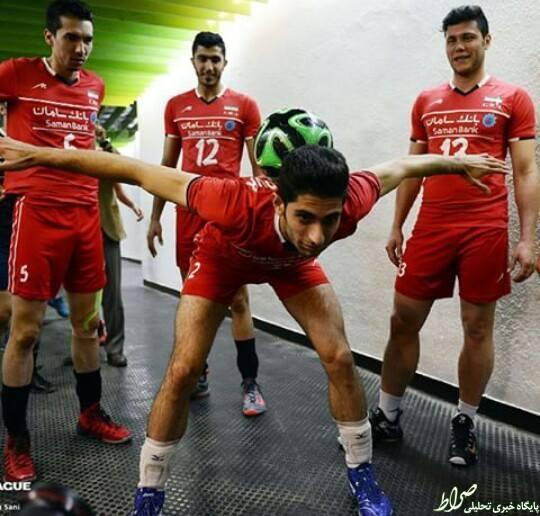 عکس/ فوتبالیست ترین والیبالیست!
