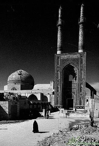 عکس قدیمی از مسجد جامع یزد