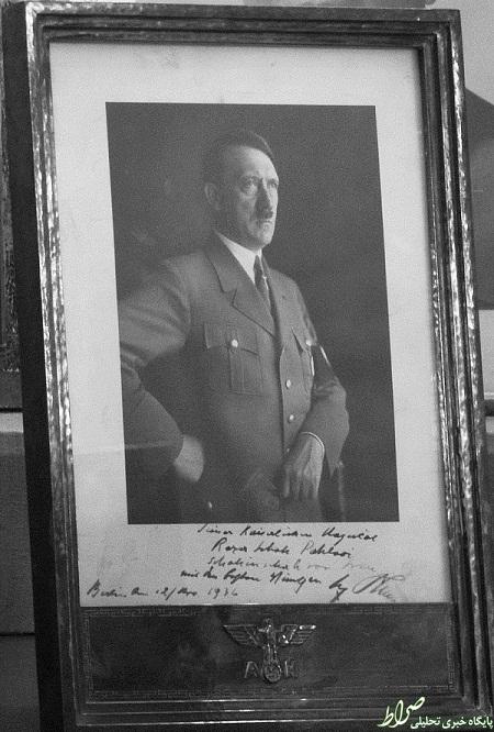 یادگاری هیتلر به رضا شاه +عکس