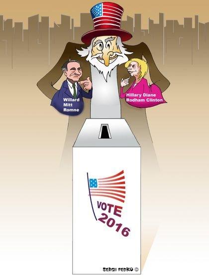 کاریکاتور/ انتخابات ریاست جمهوری آمریکا