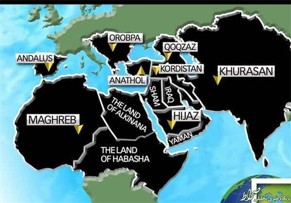 قلمرو ادعایی داعش در 2020 +نقشه