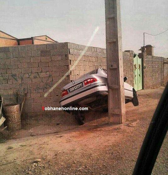 عکس/ مهارت خارق العاده راننده سمند!