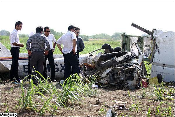 جزئیات سقوط هواپیما در قزوین+عکس