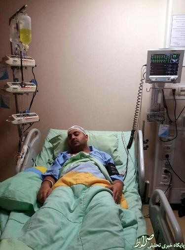 عکس/ بهنام صفوی پس از جراحی تومور