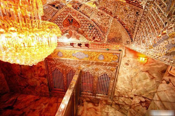 ضریح امام حسین (ع) از داخل+عکس