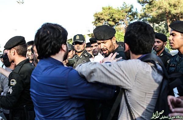 تصاویر/ درگیری هنگام ورود فابیوس به تهران