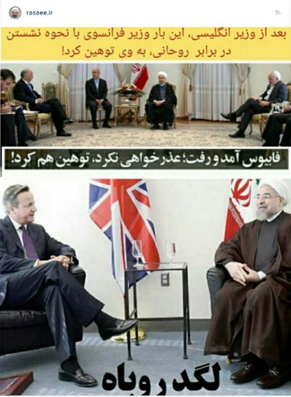 احمدینژاد مقابل سفیر سوئد حرکت متقال انجام داد/ وزارت خارجه درباره دیپلماسی تاکید بیشتری به روحانی داشته باشد +عکس