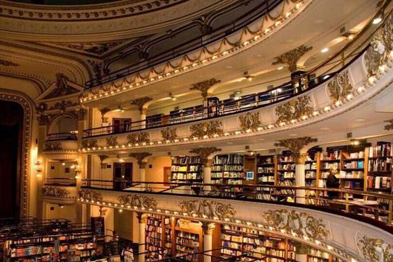 کتابفروشی مجلل در آرژانتین + عکس
