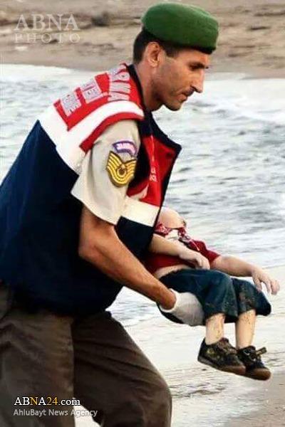 مرگ دردناک کودک آواره سوری+تصاویر