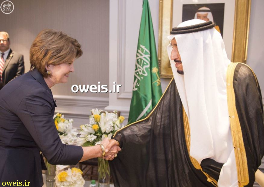 عکسی جنجالی از شاه سعودی در آمریکا