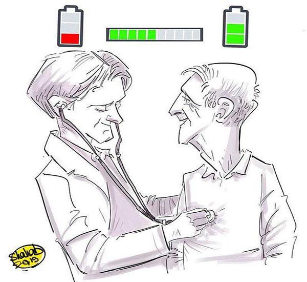 هدیه یک کاریکاتوریست به هاشمی +عکس