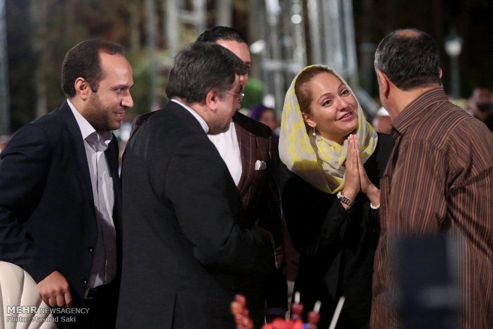 عکس/ خوش و بش جنتی با مهناز افشار