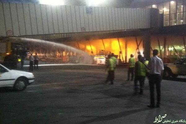 آتش سوزی در فرودگاه مهرآباد +عکس