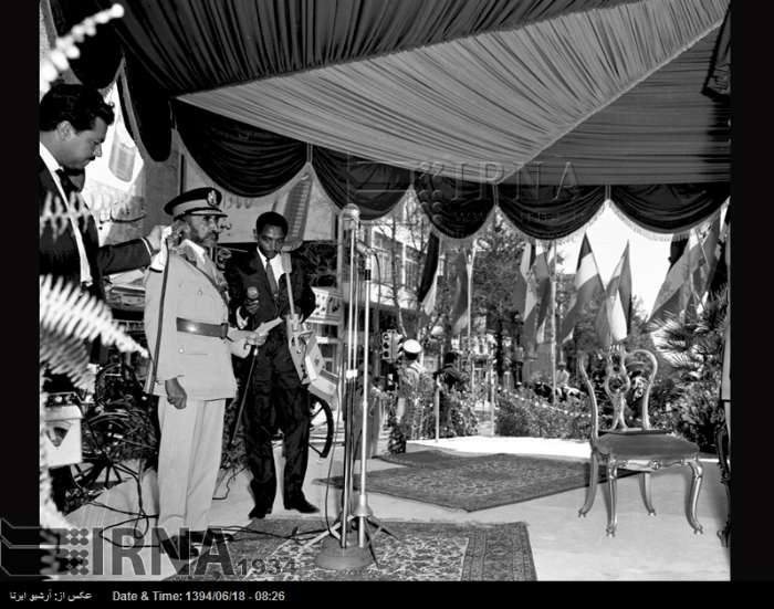 عکس/ سفر امپراتور اتیوپی به ایران