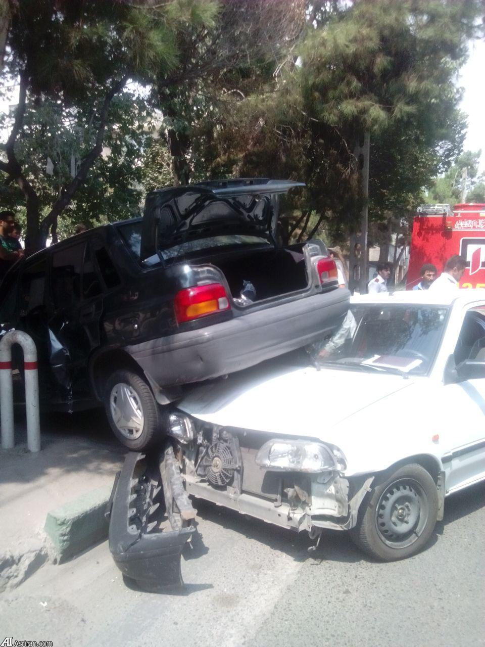 تصادف عجیب در تهران +عکس