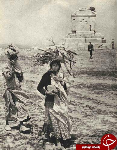 زنان قدیمی در مقبره کوروش+عکس