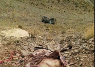 سقوط مرگبار خودرو به دره +تصاویر