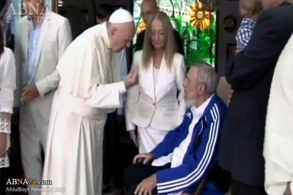 عکس/ دیدار پاپ با «فیدل کاسترو»