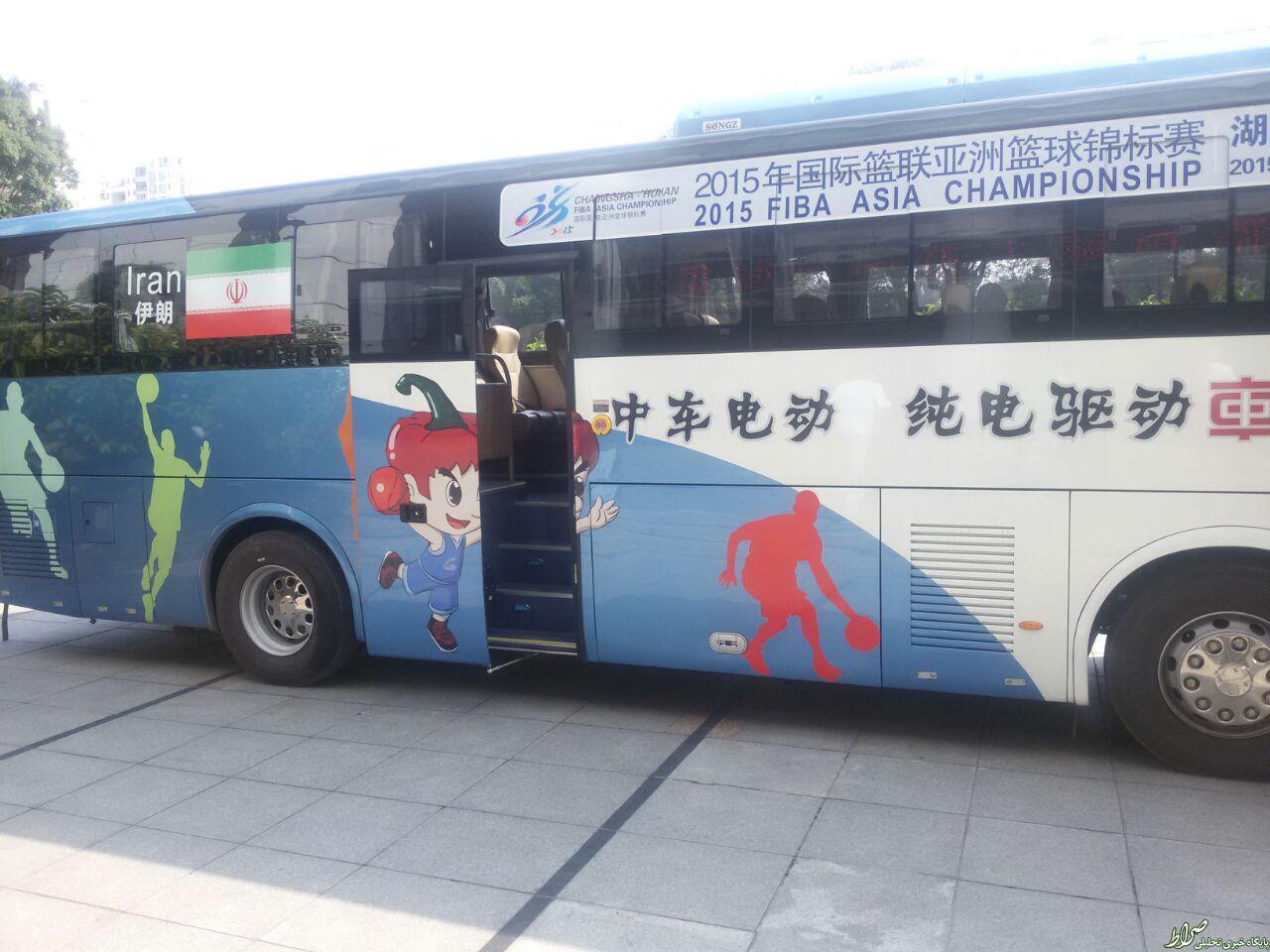 عکس/ اتوبوس بسکتبالیستهای ایران در چین