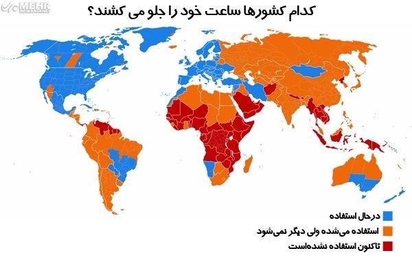 کدام کشورها تغییر ساعت دارند؟