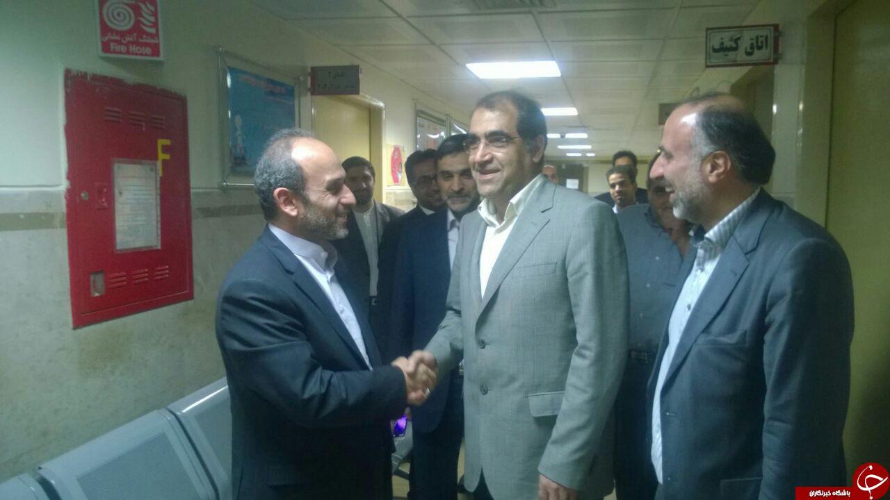 وزير بهداشت حسينی را معاينه کرد +تصاویر