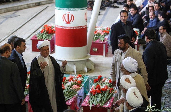عکس/ رفسنجانی در تشییع جانباختگان منا