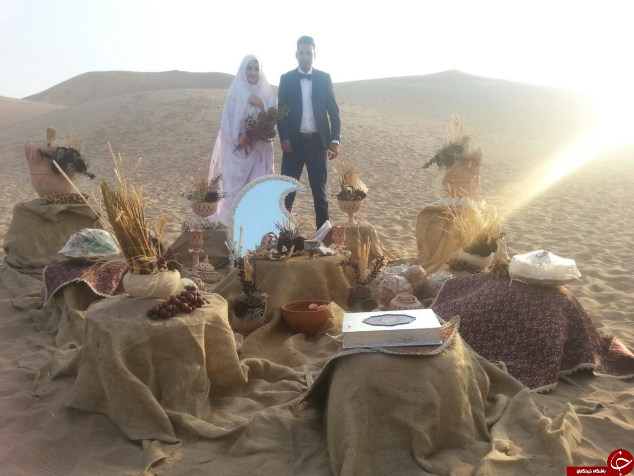 عکس/ ورژن جدید عروسی در کویر یزد