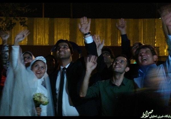 عروسی دربین کارتنخوابهای تهران +عکس