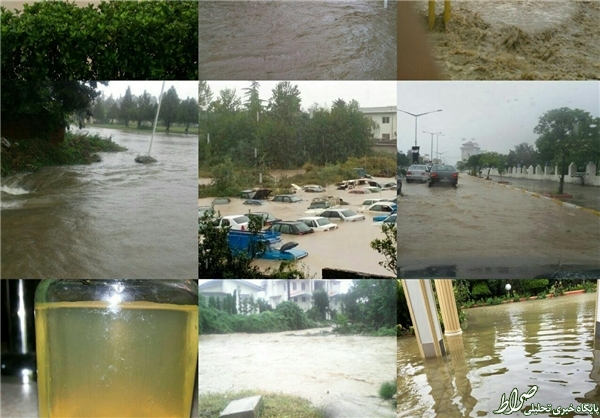 خسارت باران شدید در رامسر+تصاویر