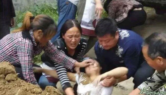 زنی که در خیابان زنده به گور شد!+عکس