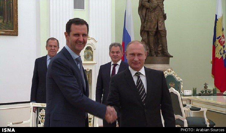 دیدار بشار اسد با پوتین در مسکو