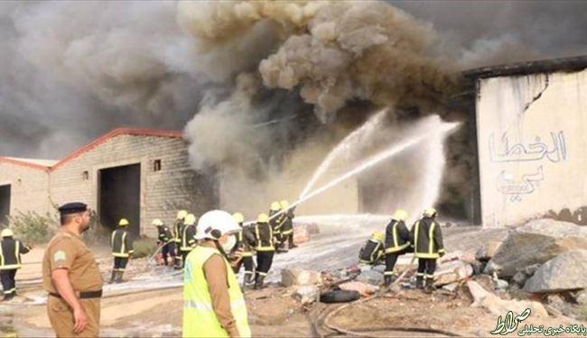 آتشسوزی درسه انبار درمکه+تصاویر