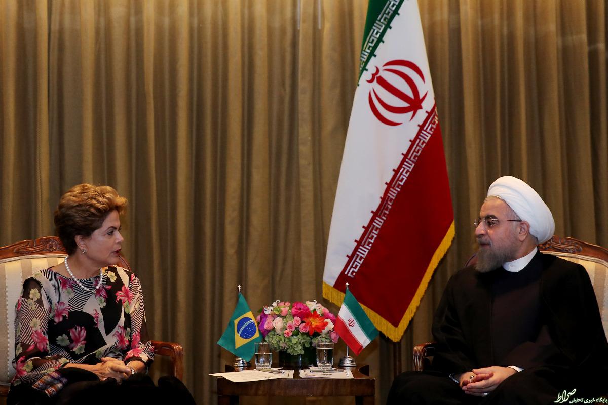 روحانی با رئیسجمهور برزیل دیدار کرد