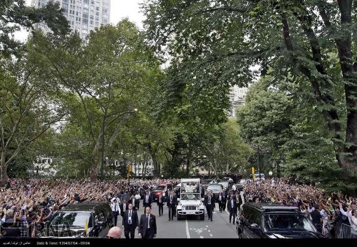 عکس/ استقبال از پاپ فرانسیس در نیویورک