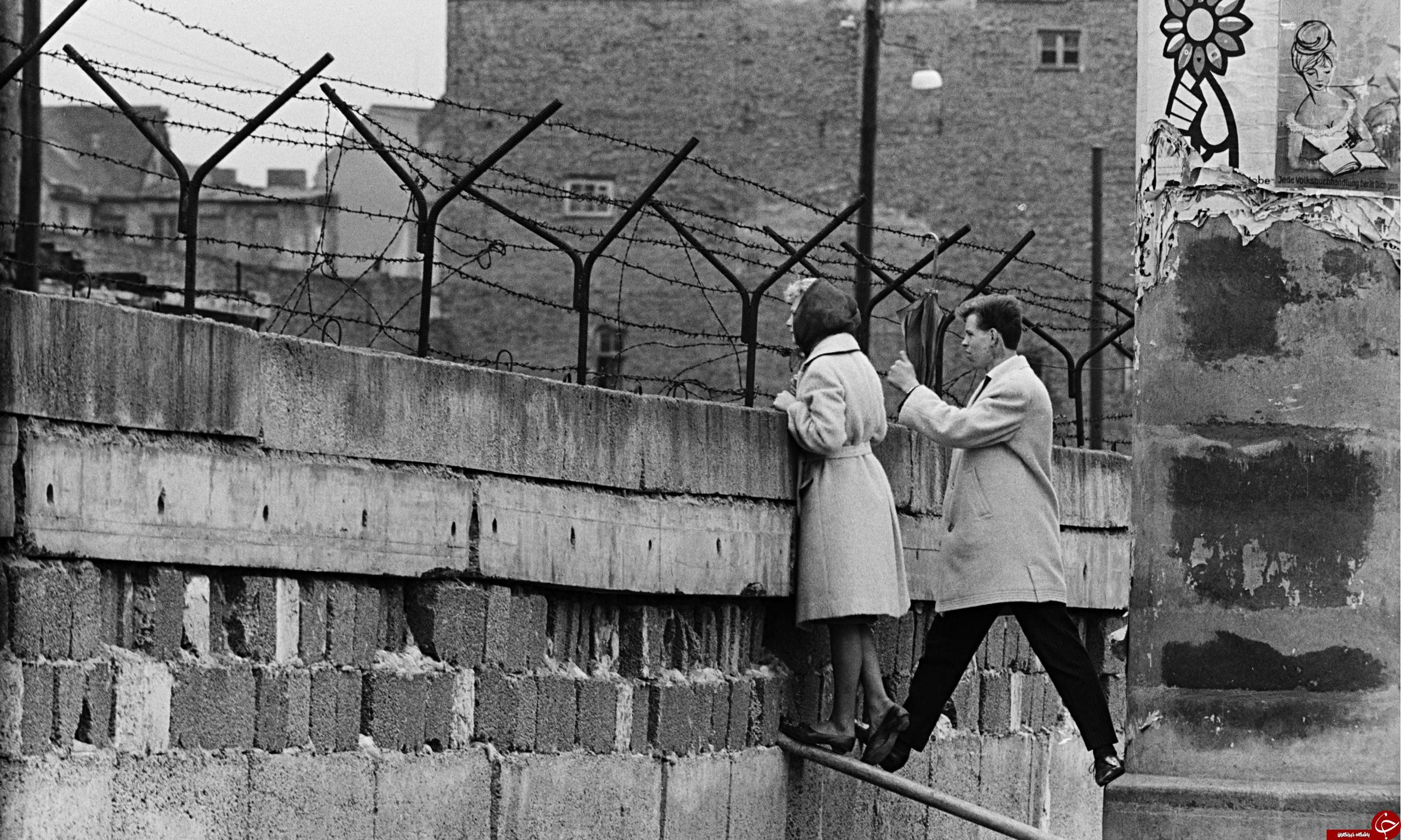 تصویری غم انگیز از دیوار برلین!